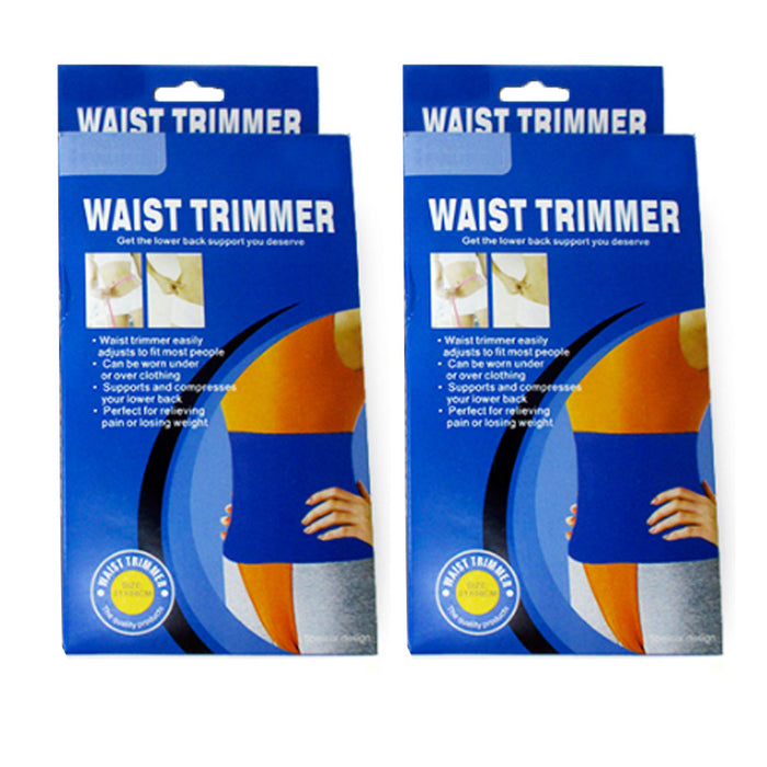 2 Pc Sweat Waist Trimmer Wrap Slimming Fat Burn Weight Loss Hot Body Womens Mens