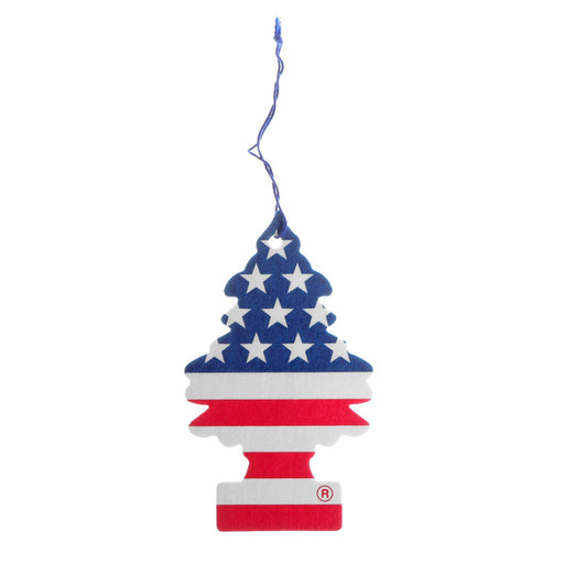 24 Little Trees Vanillaroma Scent Car Air Freshener American Flag Auto Hanging