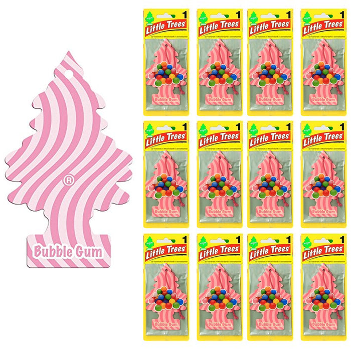 12 Little Trees Bubble Gum Scent Car Air Freshener Car Auto Office Home Hanging