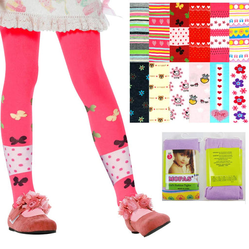 6 Cute Baby Kid Girl Tights Socks Stockings Pants Hosiery Pantyhose 1-3 Years Sm