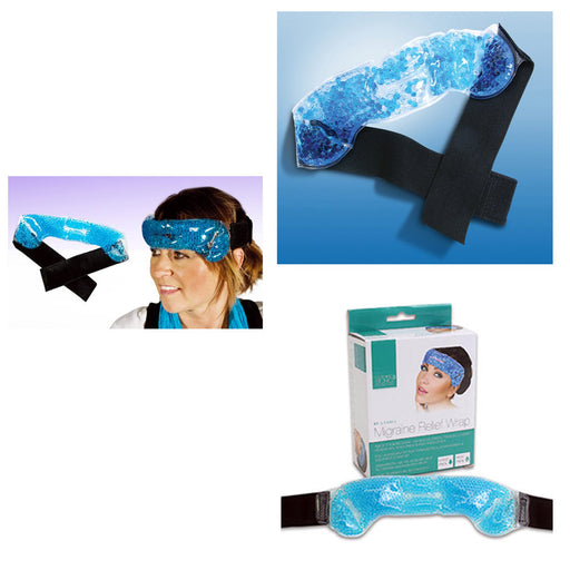 1 Migraine Relief Wrap Headache Pain Hot Cold Pack Therapy Head Stress Tension