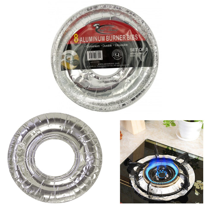 "40 X Aluminum Burner Bib Foil Round Gas Oven Liners Covers Wholesale 8.75"" !"