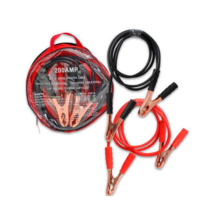 Jumper Cables 8 Gauge 300 AMP Heavy Duty Tangle Free Auto Booster Cable 10 FT