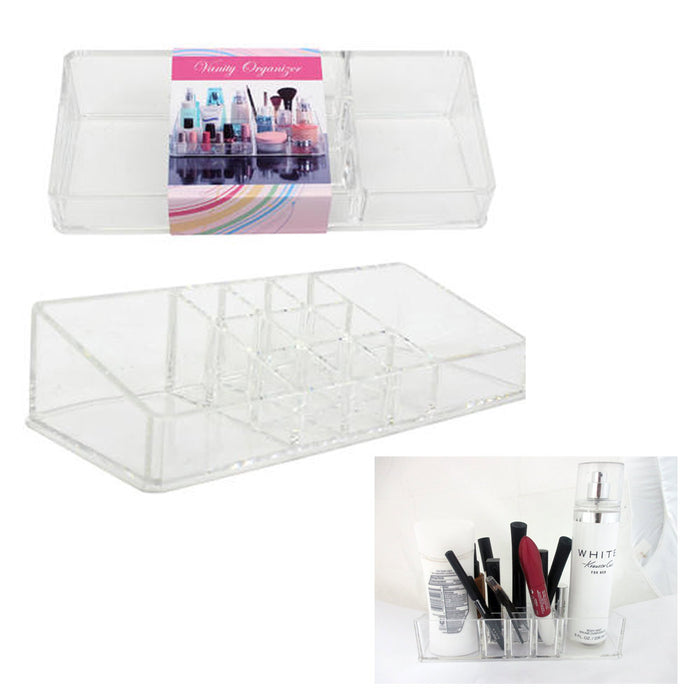 Cosmetic Organizer Case Storage Clear Jewelry Makeup Holder Box Vanity Make Up