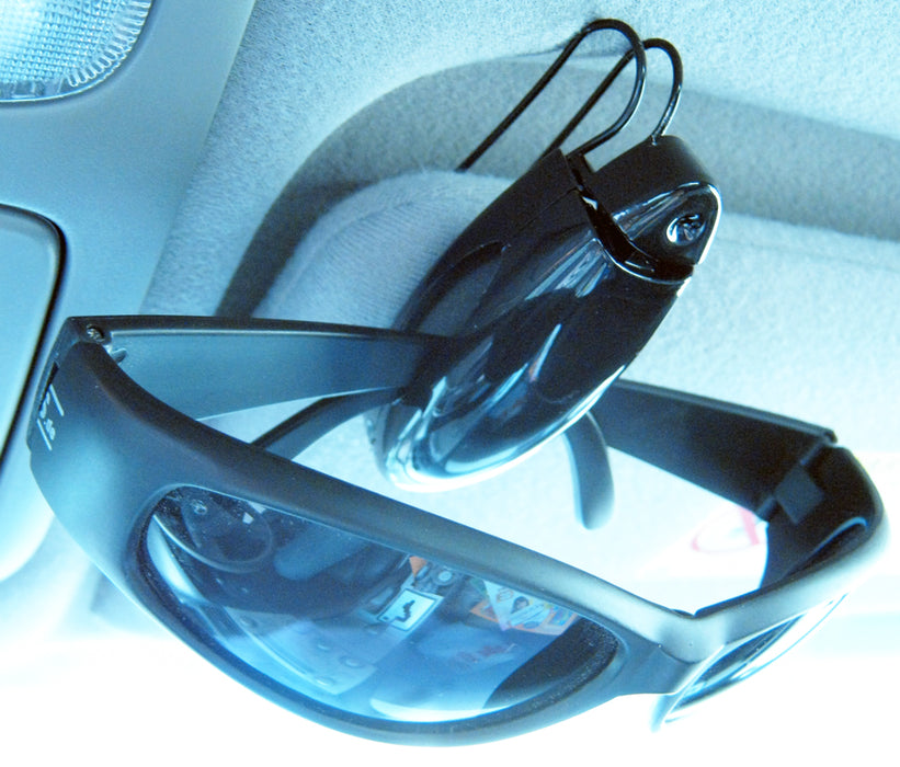 6 Sunglass Visor Clip Sunglasses Eyeglass Holder Car Auto Reading Glasses Black