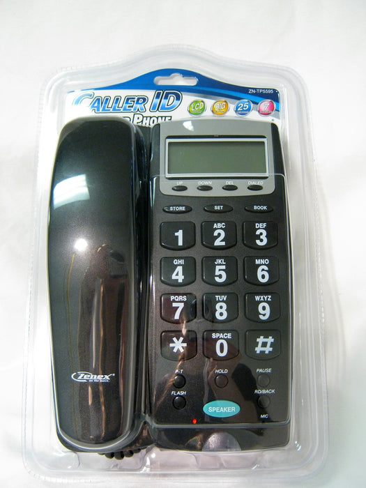 Large Number Phone Speaker Telephone Line Big Button Caller ID Display Office !