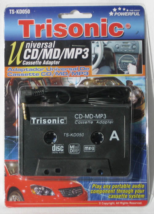 CAR CASSETTE TAPE DECK ADAPTER CONVERTER IPOD IPHONE 3G 4G MP3 CD AUDIO STEREO