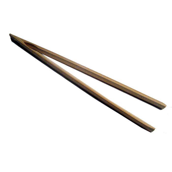 "12"" Bamboo Wood Toast Tong Wooden Toaster Safe Bacon Bagel Kitchen Chopstick"