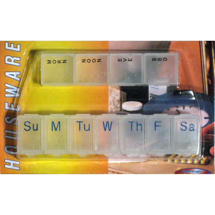 2Pc Weekly Pill Organizer Twice a Day 7 days Organizer Case Medicine Storage