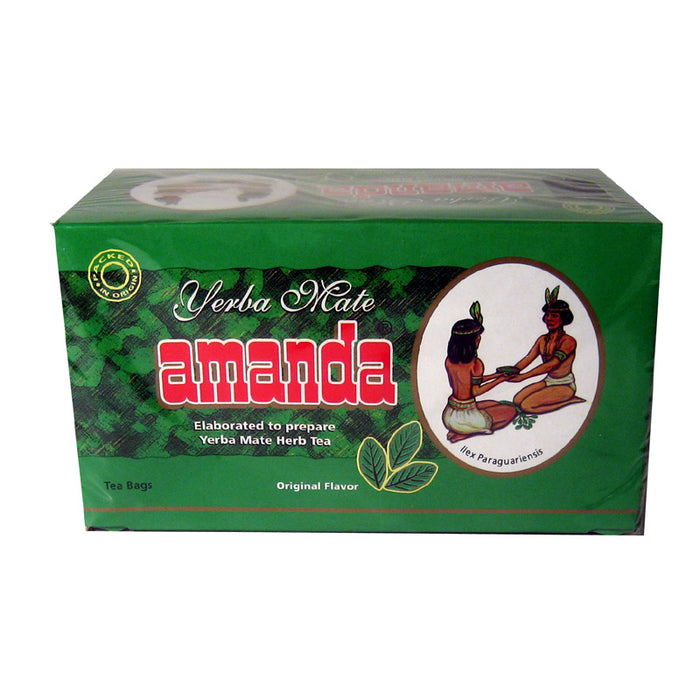 Amanda Mate Cocido 50 Herbal Tea Bags Yerba Argentina Green Detox Healthy Diet !