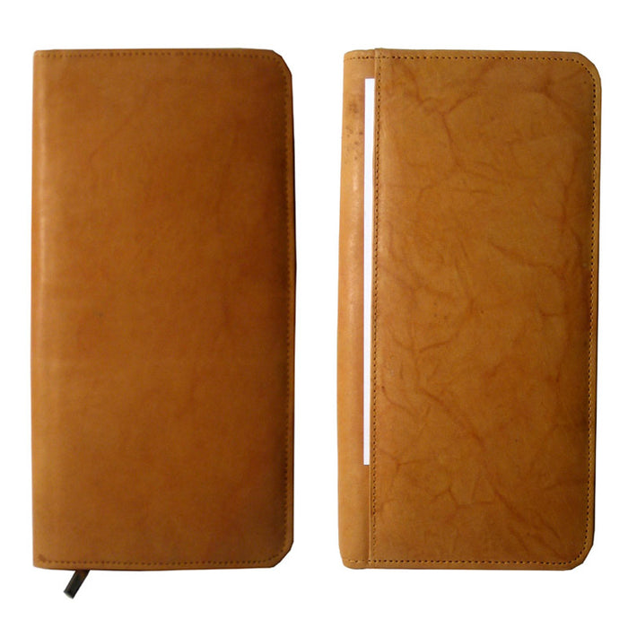 Genuine Leather Business Card Holder Organizer Case Wallet 160 Holds Display Tan