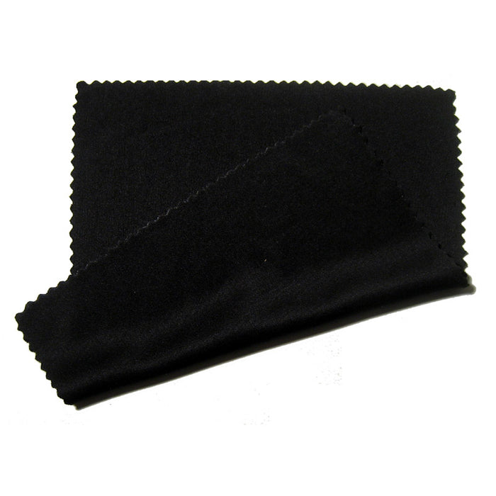 6 PC Microfiber Cleaning Cloths Eyeglass Lens Sunglasses Camera LCD Screen Black