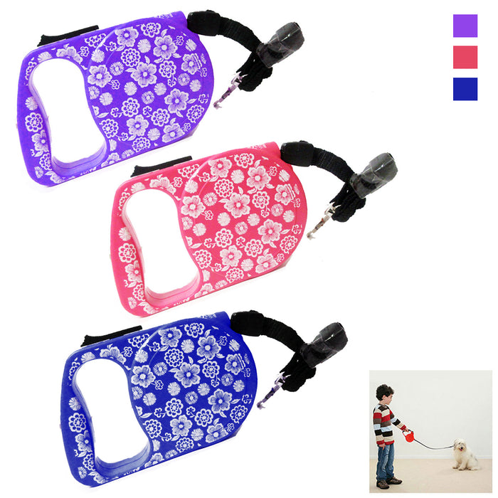 Retractable 11Ft Pet Leash Dog Cat Puppy Walking Lead Automatic Rope Cord Holder
