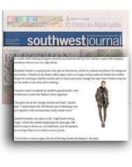 Southwest Journal about local designer Elizabeth Geisler