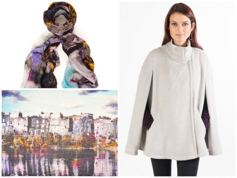 Scarf season in fashion.  Wear scarves with designs by Cocoon.