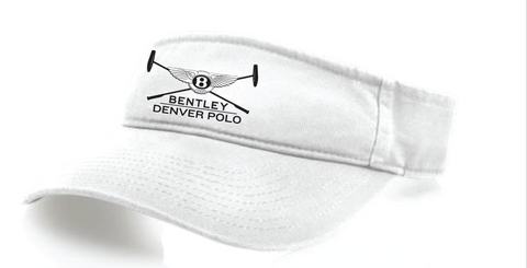 White Bentley Denver Polo Visor