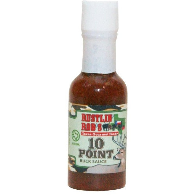 10 Point Buck Mini Hot Sauce by Rustlin' Rob's 1.7oz
