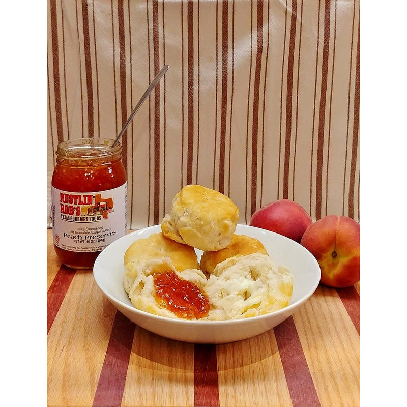 Peach Preserves (No Sugar Added) 16oz. by Rustlin' Rob's