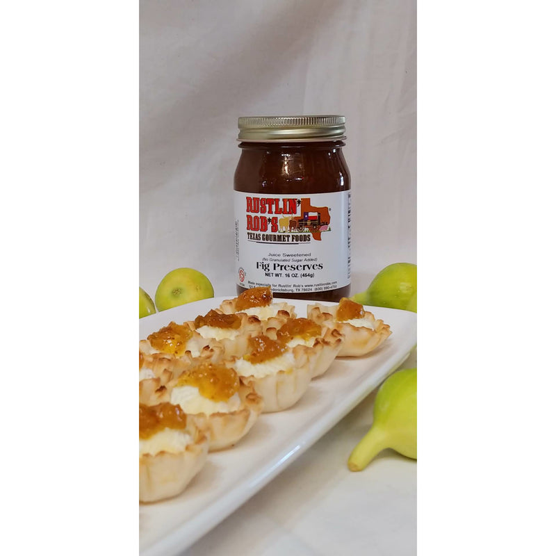 Fig Preserves (No Sugar Added) 16oz. by Rustlin' Rob's