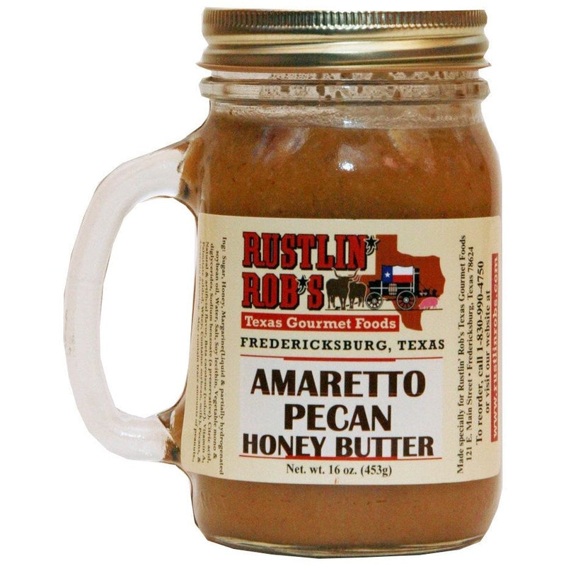 Rustlin' Rob's Amaretto Pecan Honey  Butter 16oz.