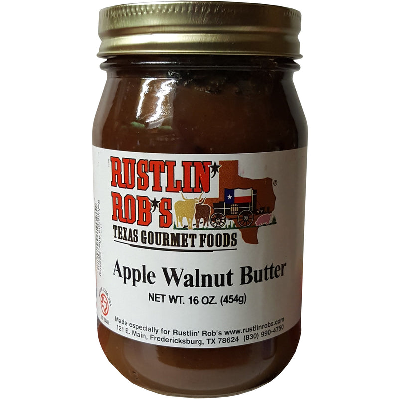 Apple Walnut Butter 16 oz. by Rustlin' Rob's