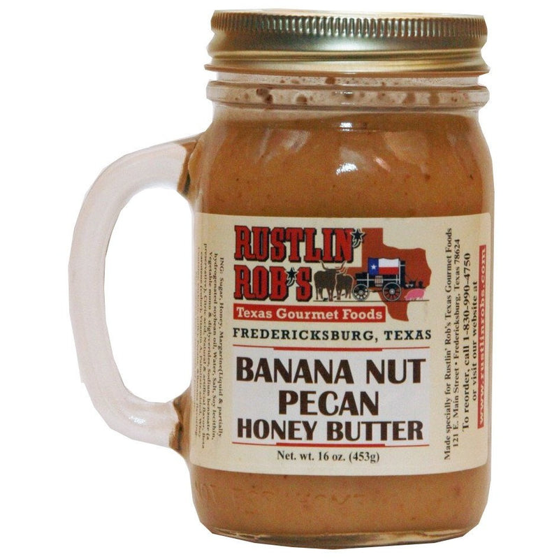 Banana Nut Pecan Honey Butter 16oz. by Rustlin' Rob's