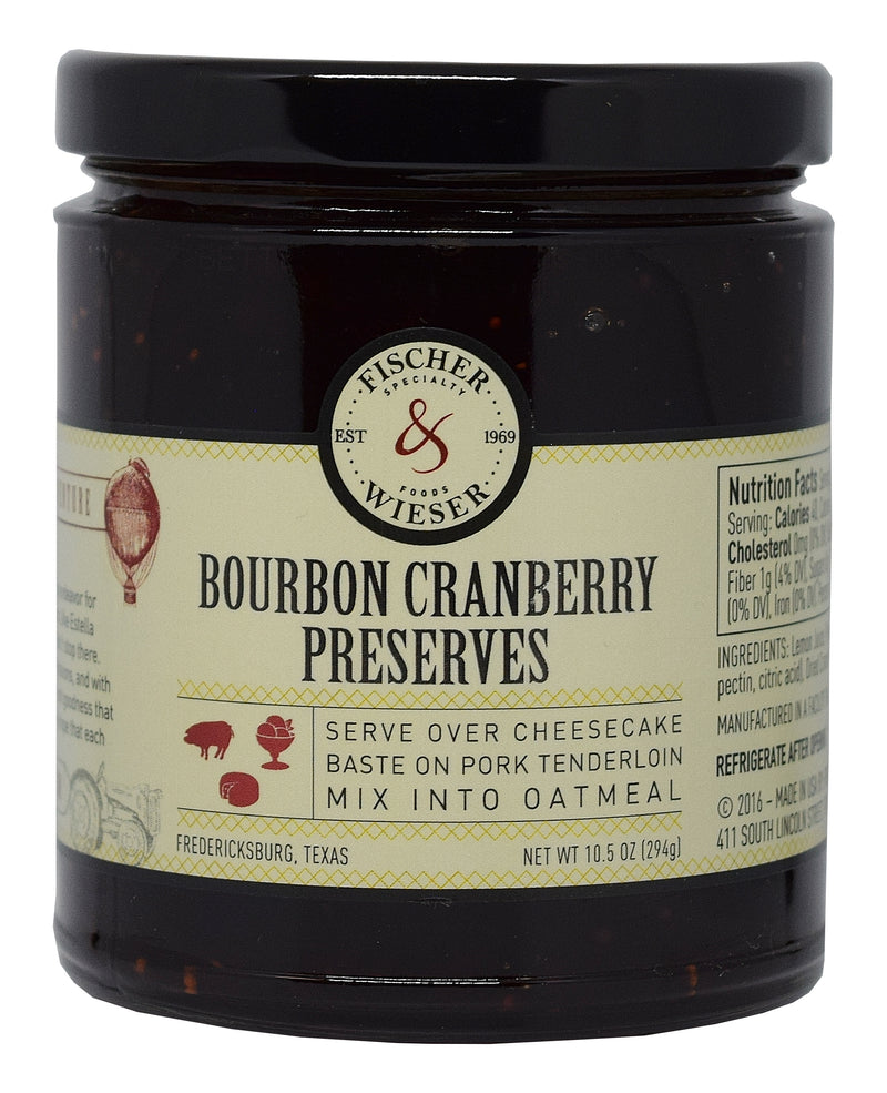 Bourbon Cranberry Preserves 10.5oz. by Fischer & Wieser