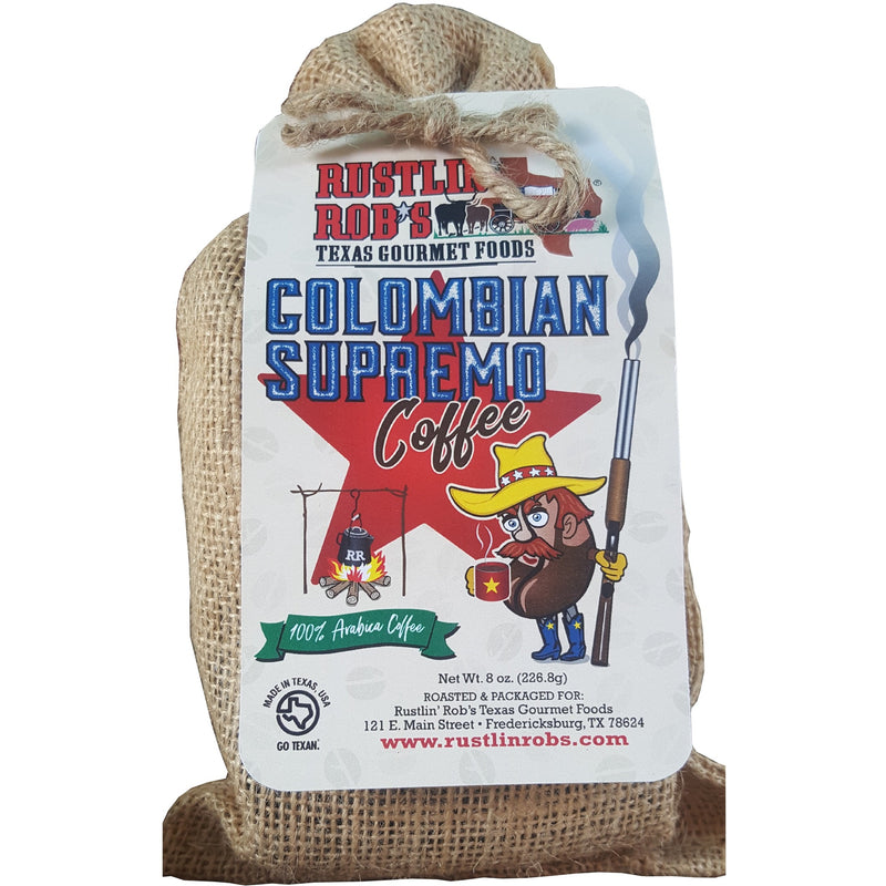 Colombian Supremo Coffee by Rustlin' Rob's 8 oz.
