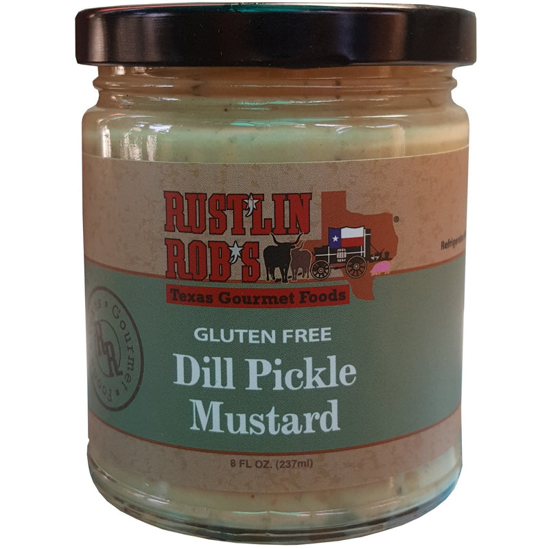Dill Pickle Mustard by Rustlin' Rob's 10.5 oz.