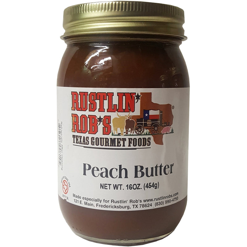 Peach Butter 16oz. by Rustlin' Rob's