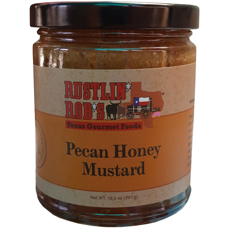 Pecan Honey Mustard by Rustlin' Rob's 10.5 oz.