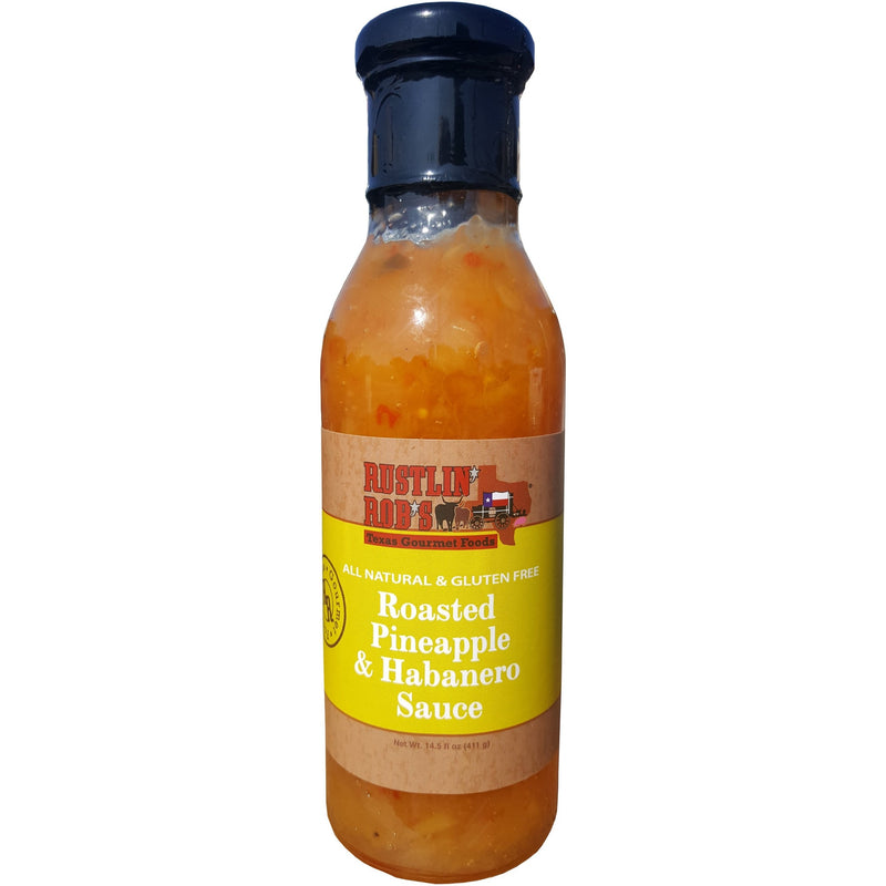 Roasted Pineapple & Habanero Sauce by Rustlin' Rob's 14.5 oz