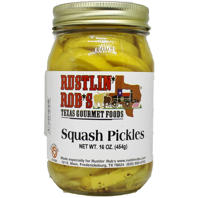 Squash Pickles 16oz by Rustlin' Rob's