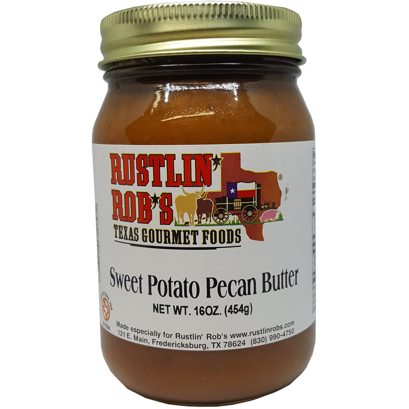 Sweet Potato Butter with Pecans 16oz. by Rustlin' Rob's