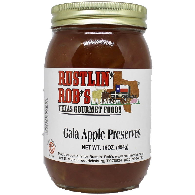 Gala Apple Preserves 16oz. by Rustlin' Rob's