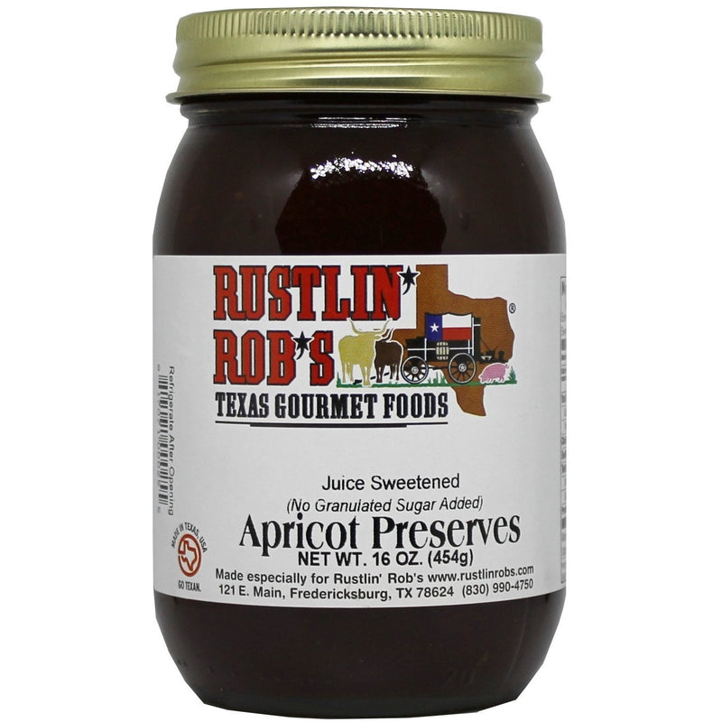 Apricot Preserves (No Sugar Added) 16oz. by Rustlin' Rob's