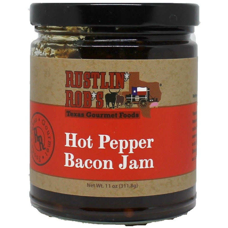 Hot Pepper Bacon Jam by Rustlin' Rob's 11oz
