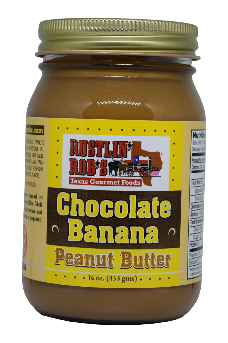 Rustlin' Rob's Chocolate Banana Peanut Butter 16oz