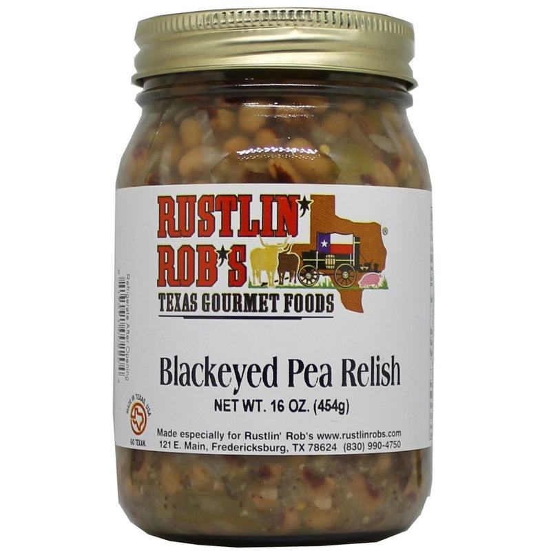 Blackeyed Pea Relish 16oz. by Rustlin' Rob's