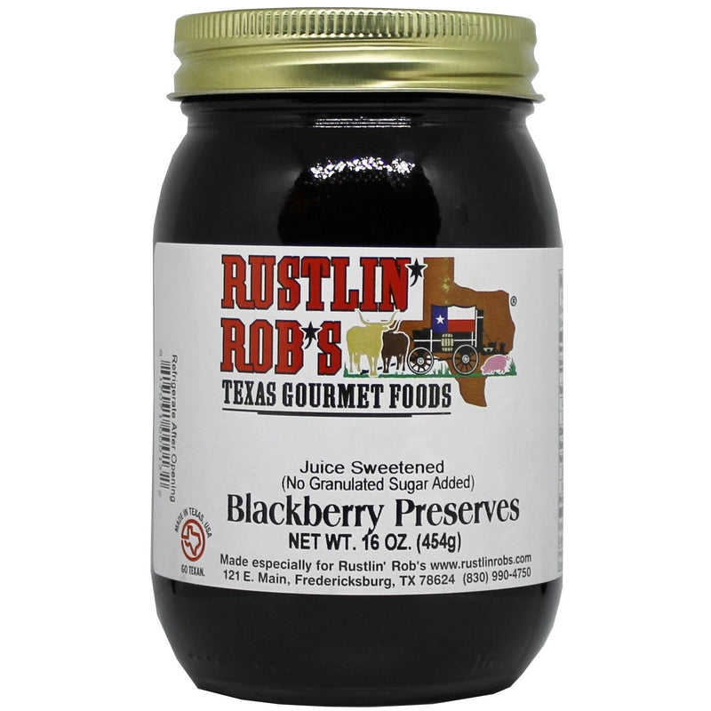 Blackberry Preserves (No Sugar Added) 16oz. by Rustlin' Rob's