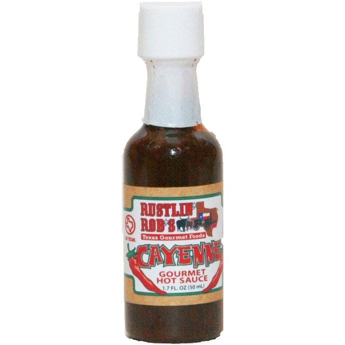 Cayenne Mini Hot Sauce by Rustlin' Rob's 1.7oz