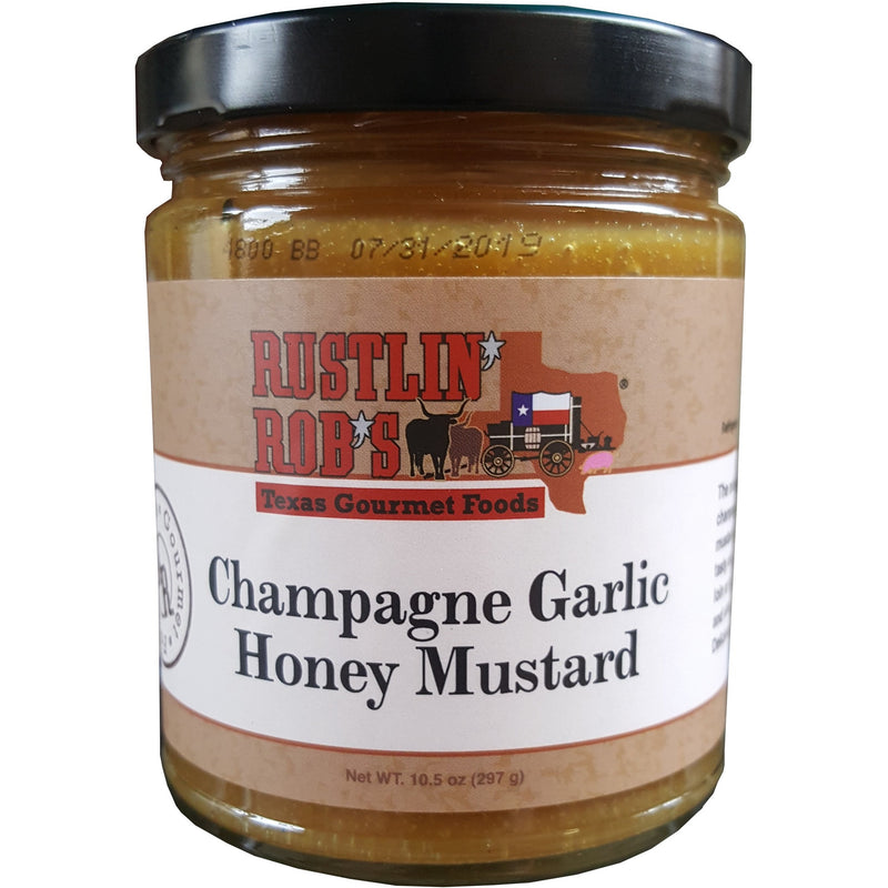 Champagne Garlic Honey Mustard by Rustlin' Rob's 10.5 oz.