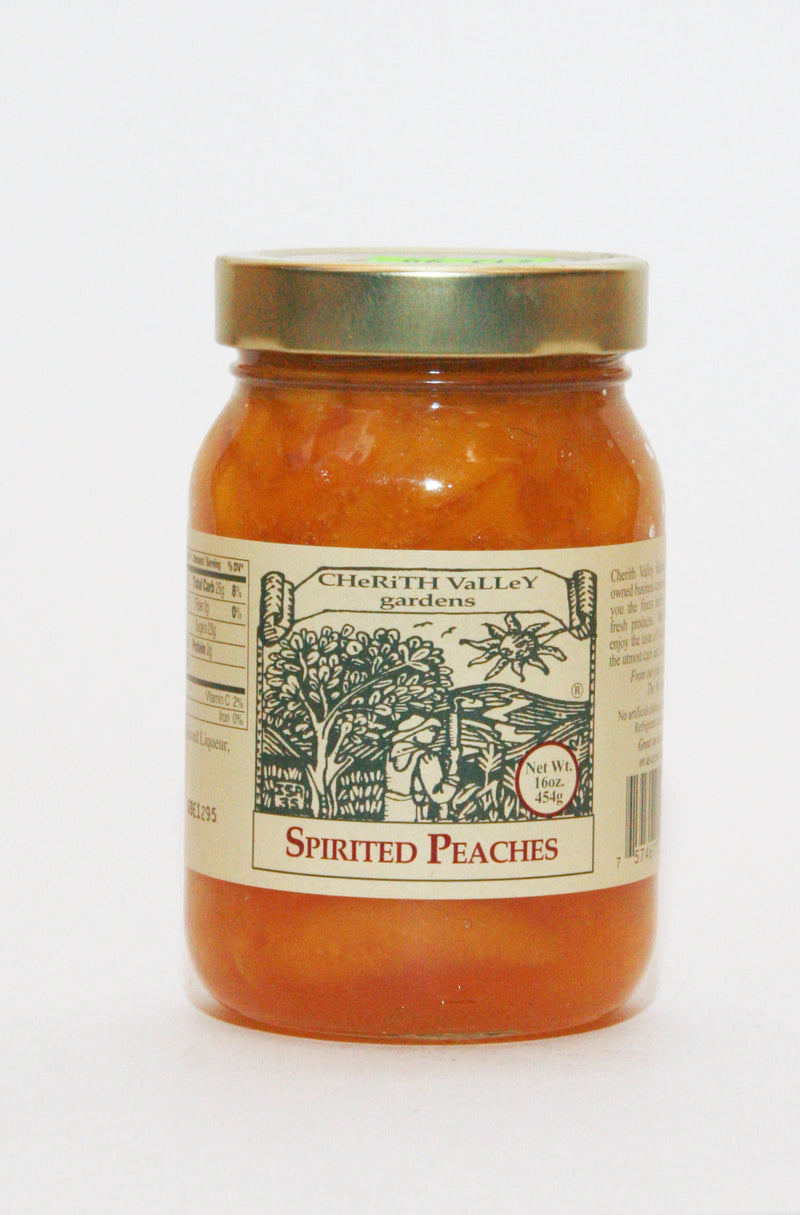 Cherith Valley Spirited Peaches 16oz.