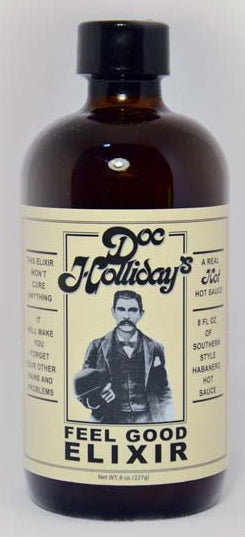 Doc Holliday's Feel Good Elixir Hot Sauce 8oz.