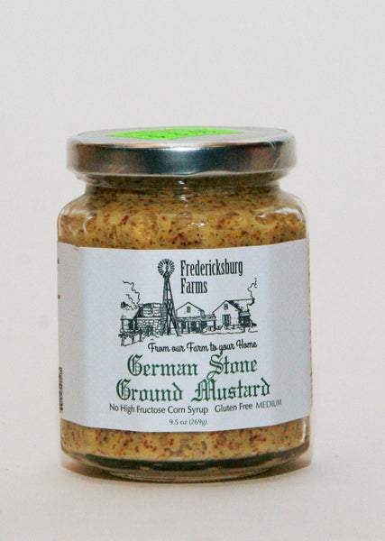German Stone Ground Mustard by Fredericksburg Farms 8oz