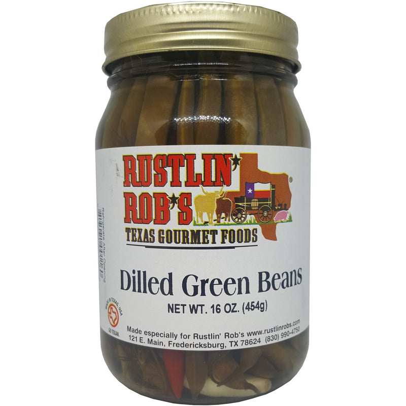 Dilled Green Beans 16oz by Rustlin' Rob's