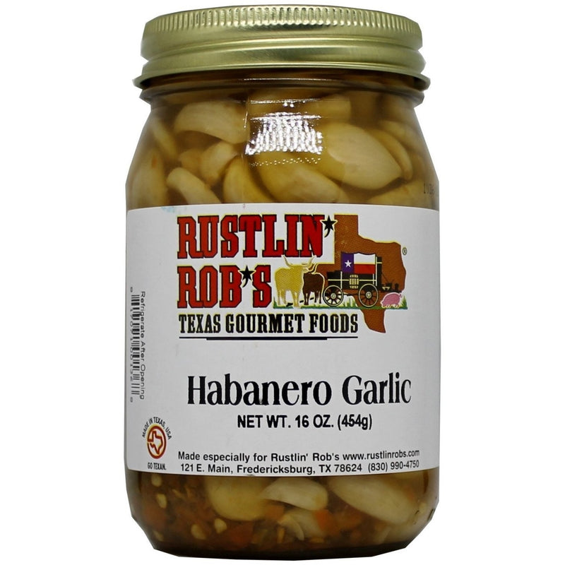 Habanero Garlic 16oz by Rustlin' Rob's