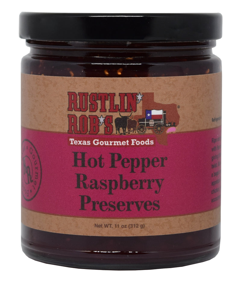 Hot Pepper Raspberry Preserves 11oz. by Rustlin' Rob's