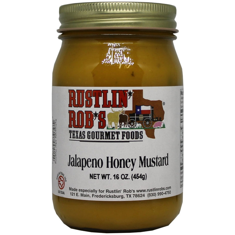 Jalapeno Honey Mustard 16oz by Rustlin' Rob's
