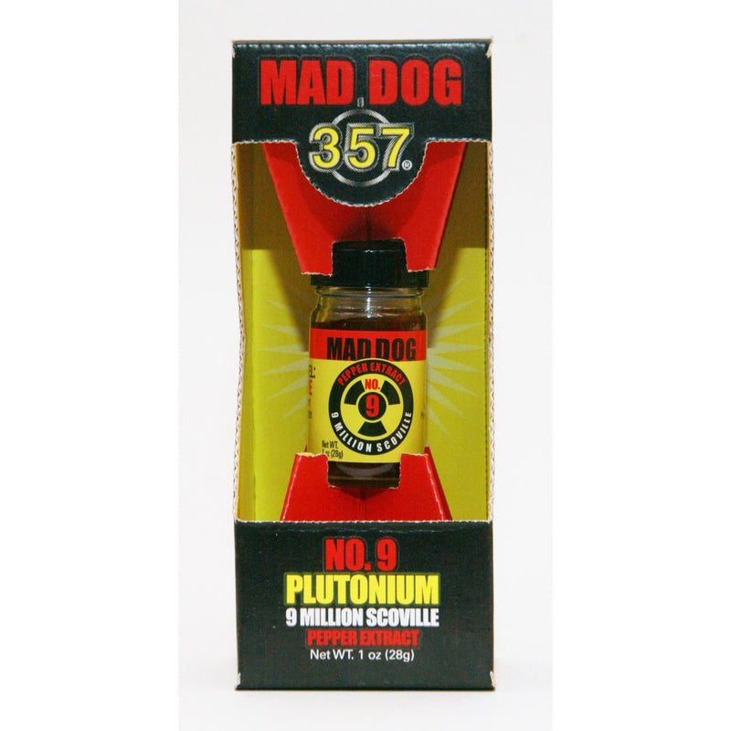 Mad Dog 357 No.9 Plutonium 9 Million Scoville Pepper Extract - 1.0 ounce bottle
